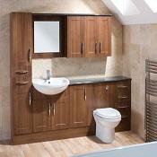 back to wall vanity unit semi recessed vanity units walnut vanity unit